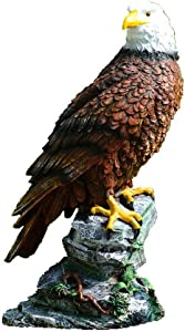 Gnomes Garden Ornaments, Outdoor Garden Figurine, Garden Art - Garden Eagle Statue, Indoor Outdoor Animal Landscape Decorations