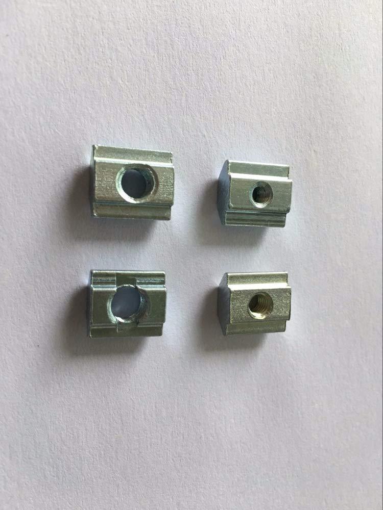 MAO YEYE 100pcs M4 M5 M6 M8 T Sliding Nut Block Aluminum Profile Slot 8 Zinc 3030 Coated Plate Aluminum Accessories by MAO YEYE