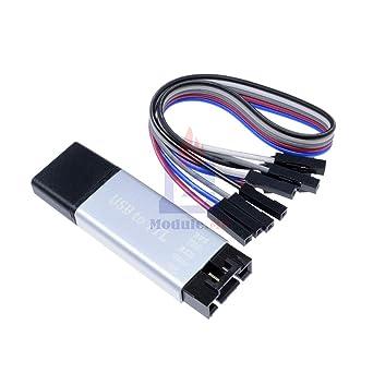 Amazon.com: Carcasa de aluminio CP2102 USB 2.0 a TTL UART ...