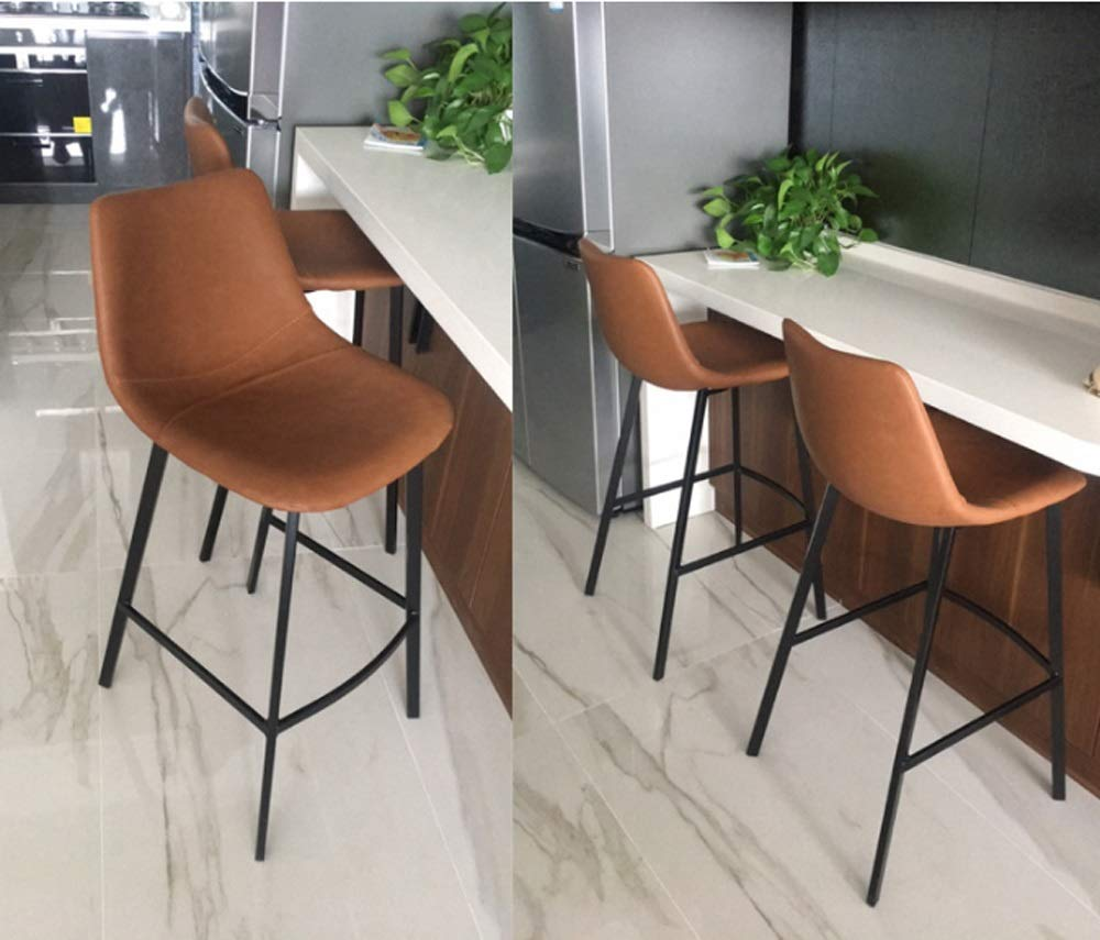 AO-stools Nordic Leisure High Stool Cafe Back Metal Bar Chair Home Restaurant Dining Chair 99x75x43cm by AO (Image #9)
