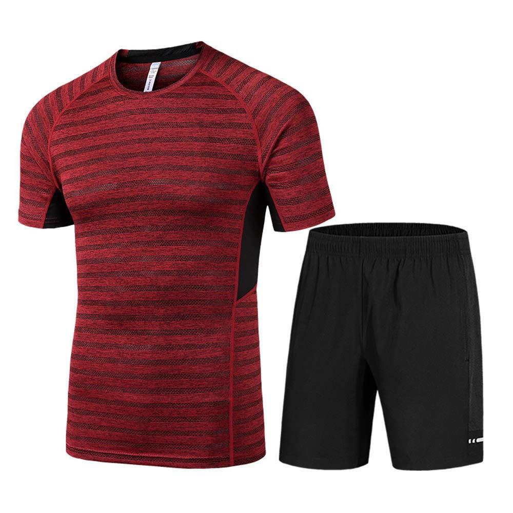 PPSGY Herren Fitness Laufbekleidung Set Sport Schnelltrocknende Strumpfhosen Und Shorts