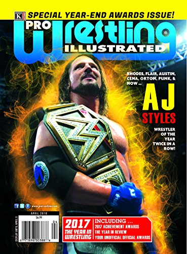 Pro Wrestling Illustrated Magazine-April 2018: 2017 Year in Wrestling-Special Year-end Awards;Kaz Okada,...