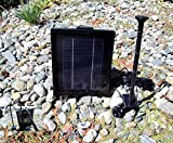 3.0 Watt Solar Powered Water Pump & Ni-Mh Battery 4 LED light