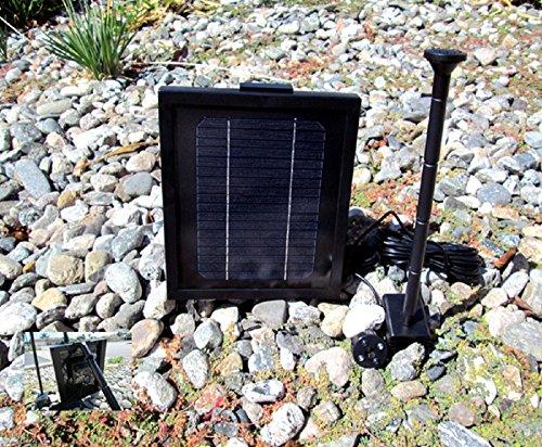 3.0 Watt Solar Powered Water Pump & Ni-Mh Battery 4 LED l...
