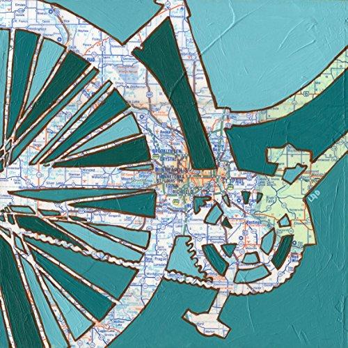 Twin Cities Bike Map (Twin Cities print -Minneapolis, St. Paul, Minnetonka, Minnesota bike art print, bicycle art, 8.5x8.5, 13x13, 16x16, 20x20, 24x24)