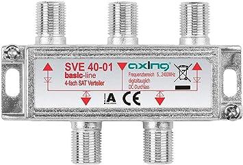Axing SVE 40-01 - Distribuidor de antena (4 salidas, 5-2400 ...