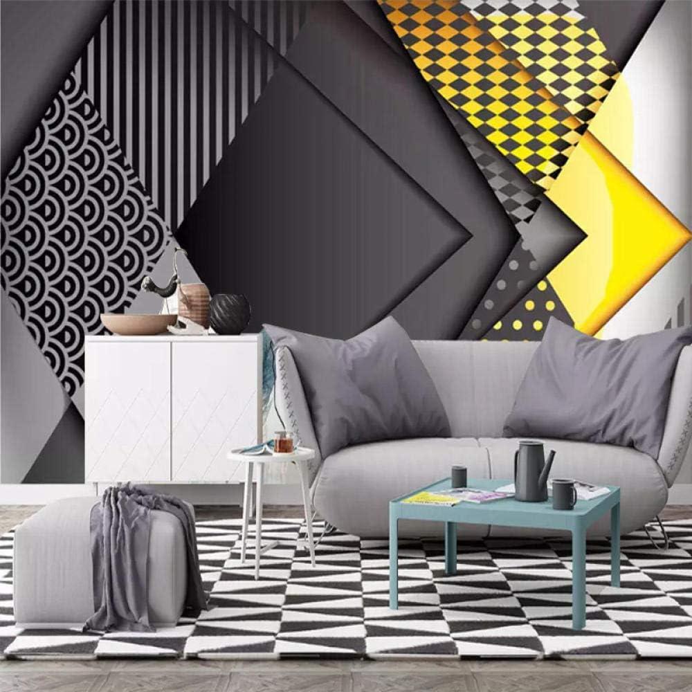 TV fond mur personnalité minimaliste moderne géométrique graphique murale salon canapé TV fond ...