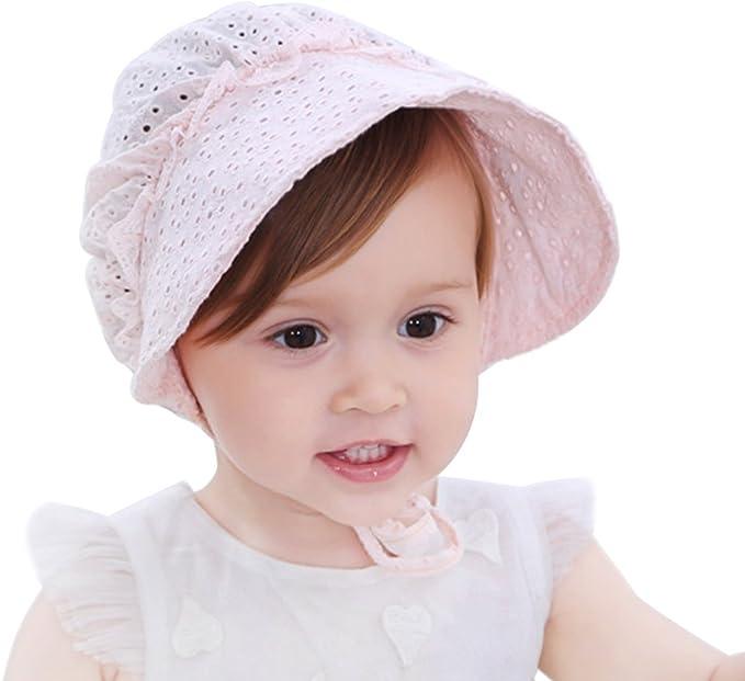 Ogquaton Sch/öne Baby Hollow Hat Neugeborenes Baby Hollow Hat Kleinkind Baumwolle Sonnenhut Infant Sommer Cap Wei/ß