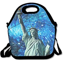 Green Statue Liberty Salaryman Waterproof Stay Warm Lunchbox Lunch Bag