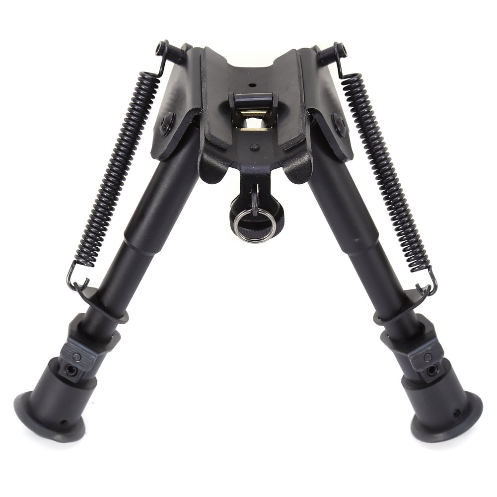 Hunting Rifle Bipod Adjustable Legs 6 to 9 Height Sniper Hunting Rifle Bipod Sling Swivel Mount Yosoo