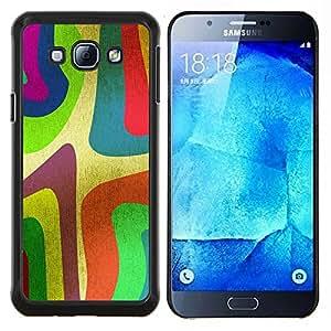 TECHCASE---Cubierta de la caja de protección para la piel dura ** Samsung Galaxy A8 ( A8000 ) ** --Wallpaper Colorfol neón Arte de la pintura de la raya