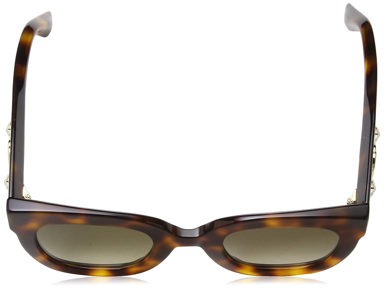 8ea84e8d90f Amazon.com  Gucci GG 0208S 003 Havana Plastic Fashion Sunglasses Brown  Gradient Lens  Clothing