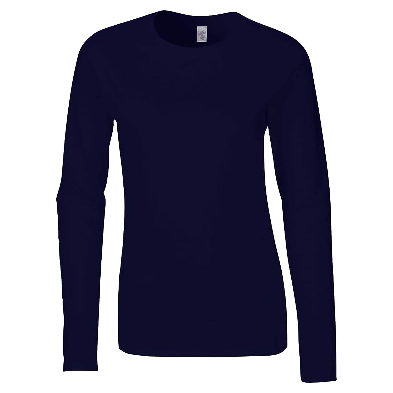 Camiseta b/ásica de manga larga suave para chica Gildan