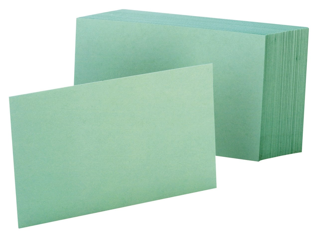Amazon.com : Oxford Blank Color Index Cards, 3\