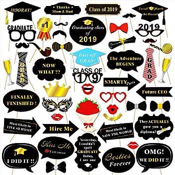 Amazon com: Big Dot of Happiness Graduation Party - Gold - 2019 Grad