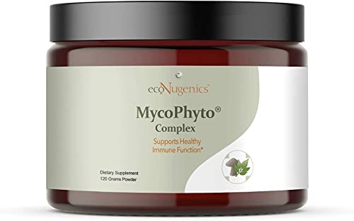 EcoNugenics MycoPhyto Complex Immune System Support Mushroom Blend Supplement Powder 120 Gram