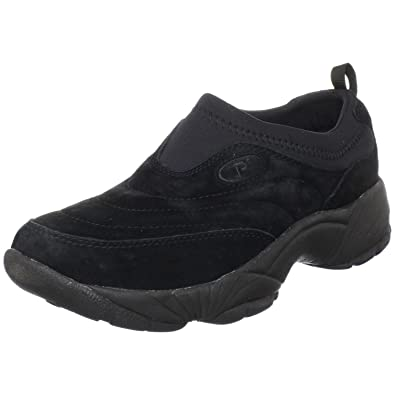 Propet Men's Wash & Wear Slip-On II Suede Shoe Black Suede 11 M (D) & Cleaner