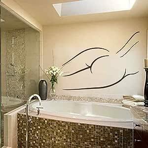 Mujer desnuda calcomanía de pared Cuarto de baño pegatinas ...