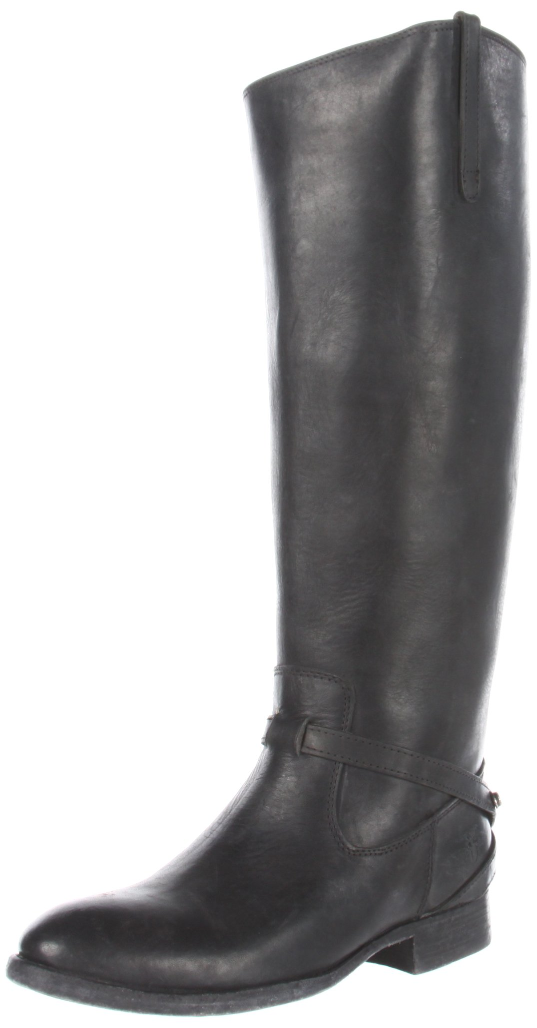 FRYE Women's Lindsay Plate Knee-High Boot,Black Stone Antique Leather,6.5 M US