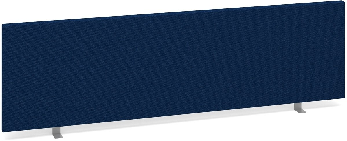 DAMS ES1400S-B Straight Desk Screen 1400x400 - Blue H 400 W 1400 D 4cm Office Depot