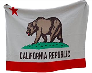 product image for in2green California Flag Throw - Ultra Luxury Eco Blanket, USA Made
