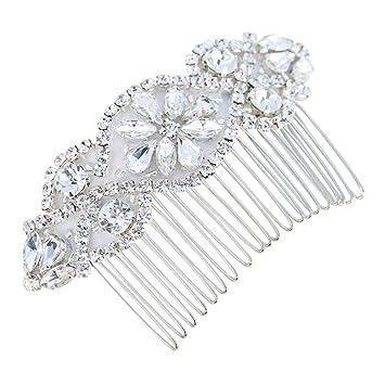 Amazon Com Handmade Crystal Rhinestones Bridal Hair Combs For