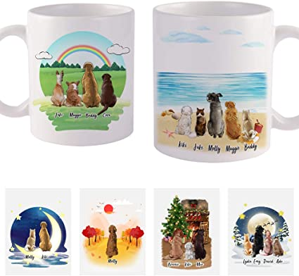 Custom Dog Mug Gift for Dog Lovers Personalized Pet Loss Gift Memorial Coffee Cup for pet lovers