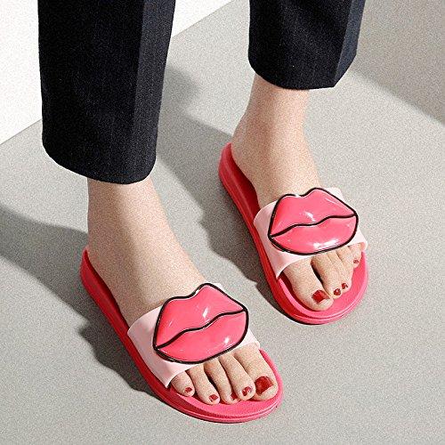 cool fondo pantofole pantofole stagioni pantofole estate quattro sig fankou rosso home morbido personalità in 39 ra 8qYpw