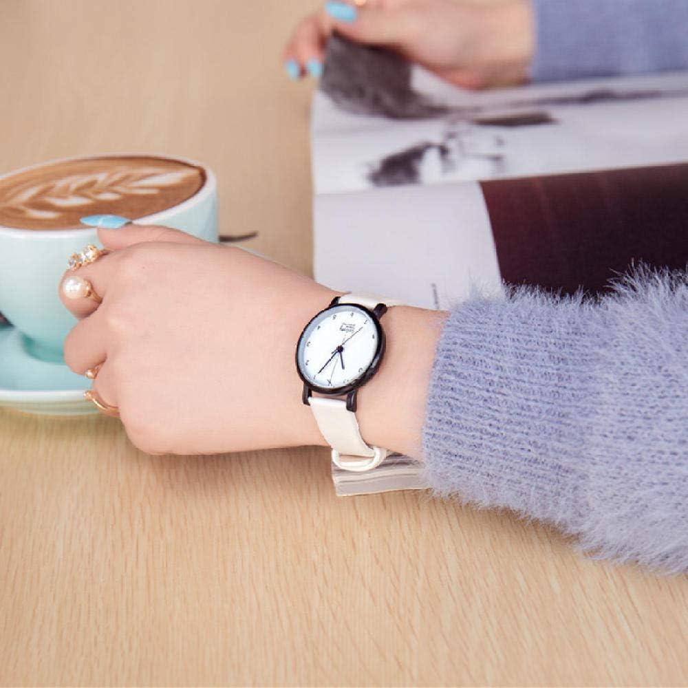 Reloj de decoración de muñeca Reloj de Pareja en Blanco y Negro Reloj de Correa de Cuarzo de Tendencia Reloj de decoración de muñeca