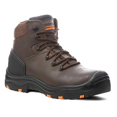 Coverguard – Zapatos de seguridad altos Topaz S3 SRC HRO 100% sin metal, Marrón