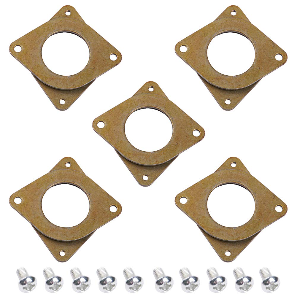 Electrely 5Pcs NEMA 17 Stepper Motor Steel and Rubber Vibration Dampers With 10Pcs M3 Screw, 42 Motor Cushion Shock Absorber for Creality CR-10,10S 3D Printer, CNC