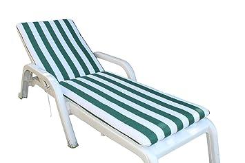 Ghio Coussin Pour Chaise Longue Bain De Soleil Pour Extérieur De