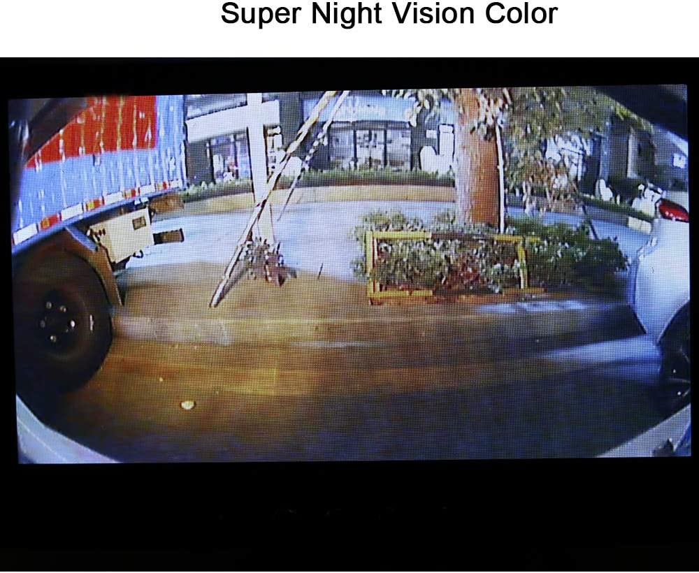 Universal Car Front//Side//Rear View Camera,Starlight Super Night Vision Color,Super Wide View Angel 170/°,IP68 Waterproof,12V only for Cars SUV Jeep Pickup Black Backup Rearview Reverse Camera