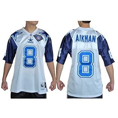 112a2d36 Mitchell & Ness Mens NFL Throwback American Football Jersey - Dallas Cowboys  #8 Troy Aikman