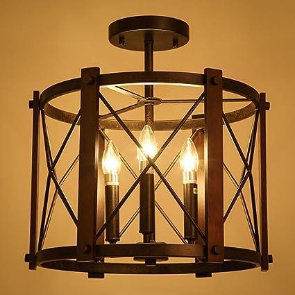 Baok (43.5 * 44.5cm) Lámparas de la sala de las luces-Retro ...