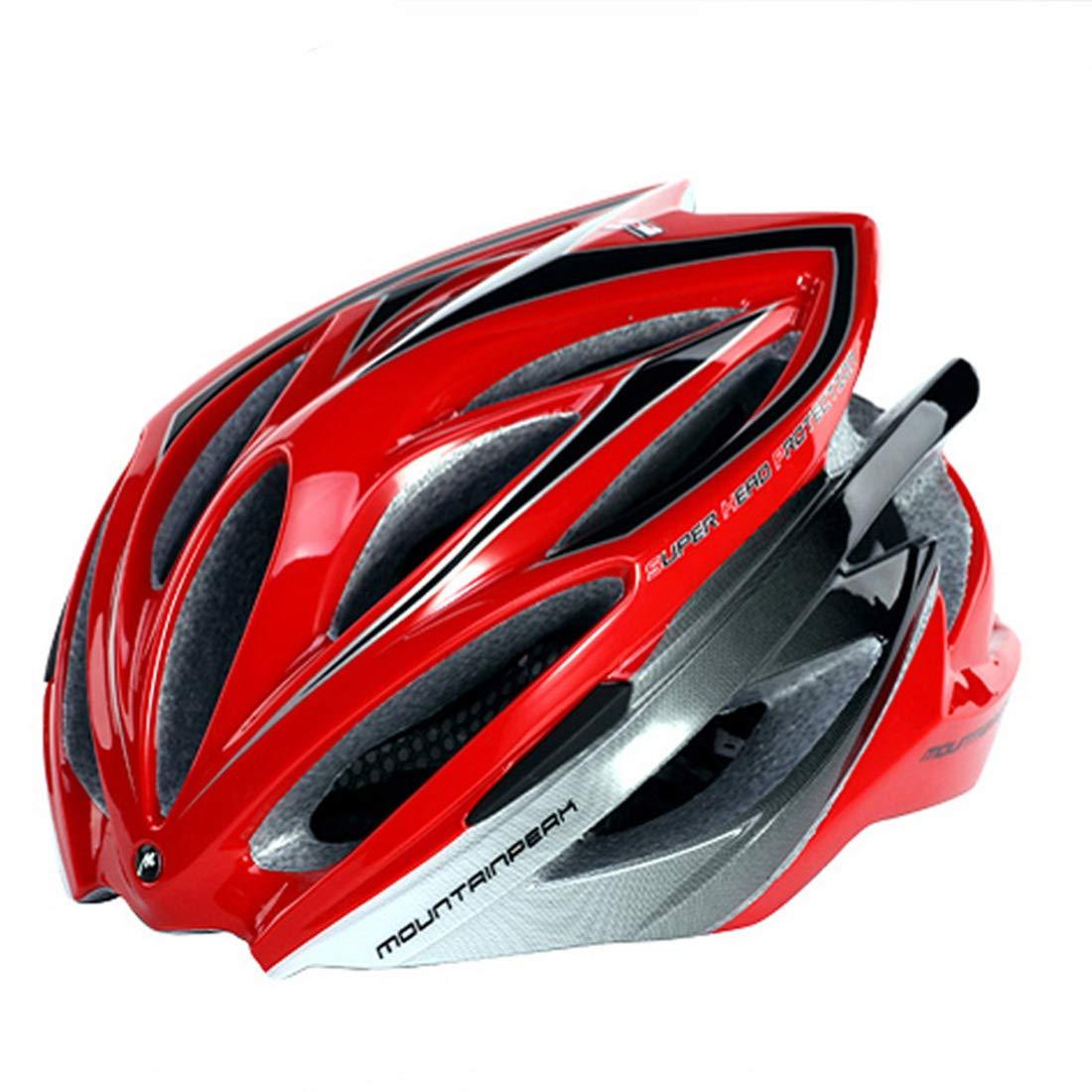 Nekovan 屋外サイクリング愛好家に適した自転車乗りヘルメット自転車安全ヘルメット大人の自転車ヘルメット (Color : レッド)  レッド B07QGR8JH4