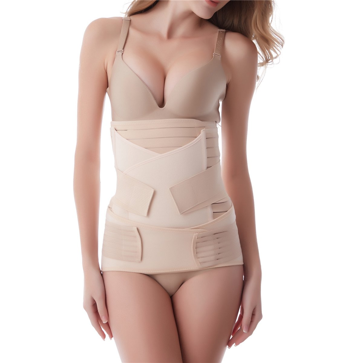 Aigori 3 in 1 Postpartum Support Recovery Belly Waist Pelvis Belt C Section Recovery Belt Body Shaper Postnatal Shapewear
