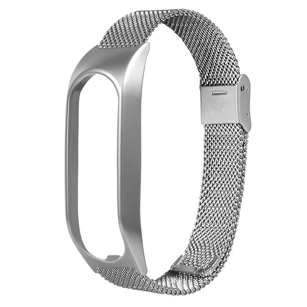 Milanese Metal Case Watch Loop Stainless Steel Watch Band Replacement Strap for Tomtom Touch (Silver) by YNAA (Image #2)