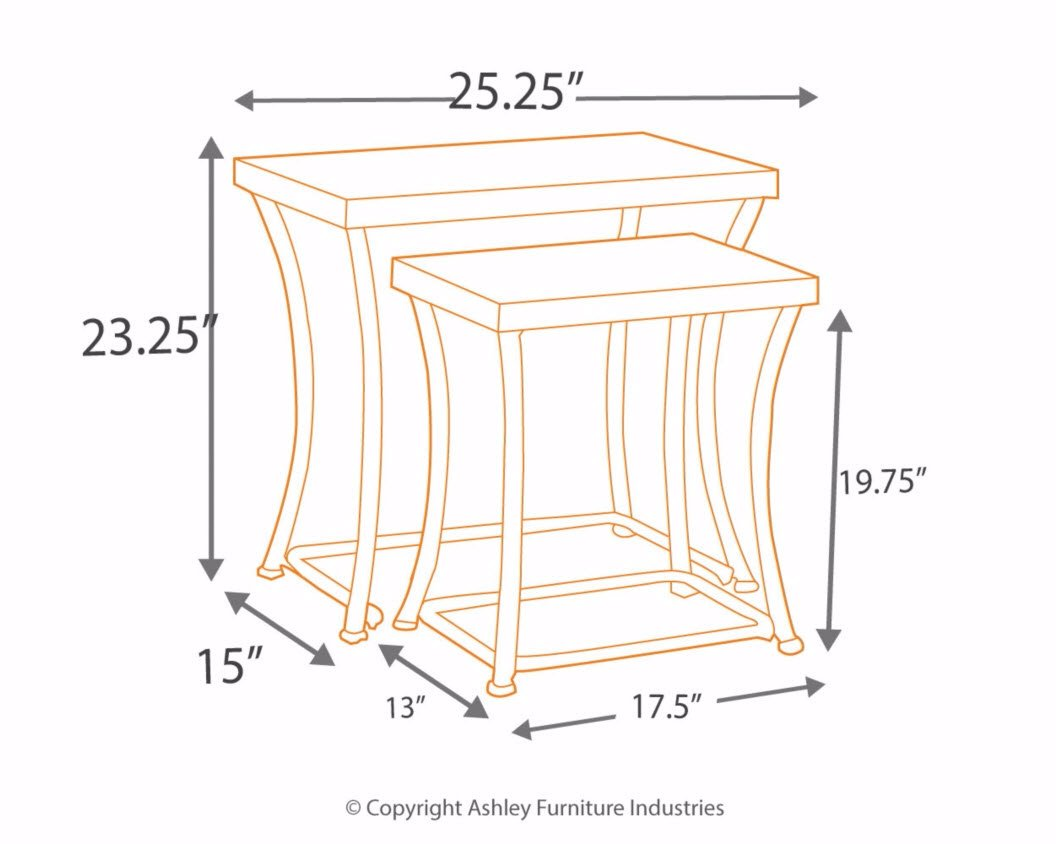 Ashley Furniture Signature Design - Nesting End Table Set - Rustic Mix of Metal and Wood - Vintage Casual - Set of 2 - Light Brown by Signature Design by Ashley (Image #4)