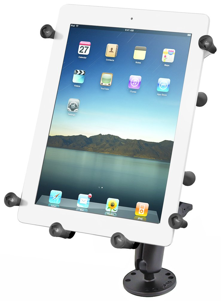 RAM-B-101-C-UN9U: RAM Flat Surface Mount with Universal X-GripTM III Holder for Large Tablets