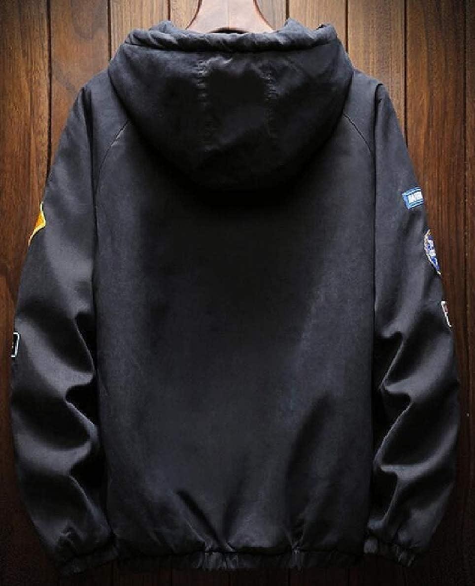 2d3db55f10cec Black Tymhgt-CA Mens Warm Warm Warm Winter Fleece Lined Loose Hoodie ...
