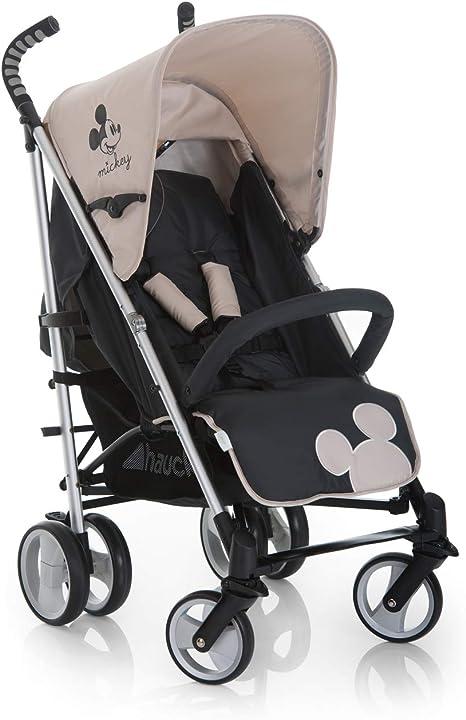 Opinión sobre Hauck Spirit light silla de paseo infantil Disney, plegable, silla paraguero, empuñaduras ergonómicas, portavasos, respaldo reclinable, gran cesta con espacio para compra y juguetes, Mickey gris