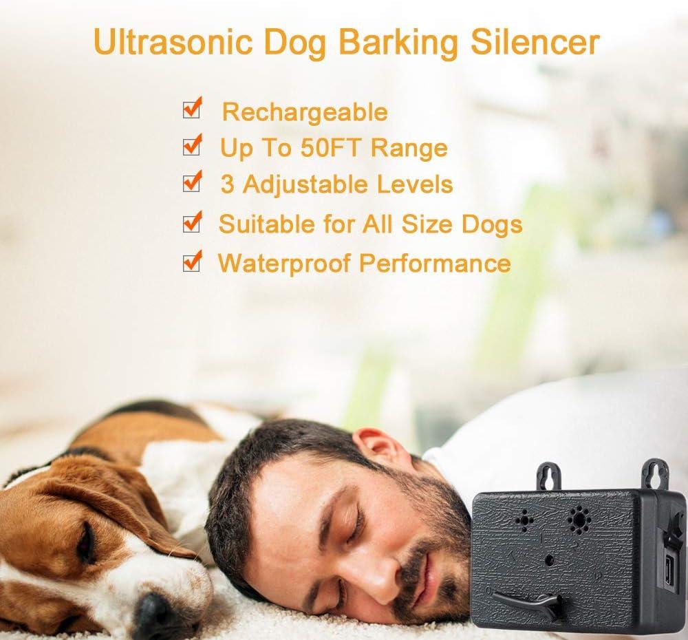 RTDotey Hundegebell Steuerger/äte Anti Barking Ger/ät Bark Box Hundegebell Steuerger/äte Ultraschall Sonic Dog Repellent Anti Bark Abschreckungsger/äte Bark Control Device,Schwarz