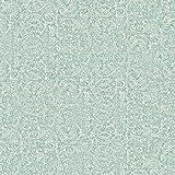 York Wallcoverings VE7121 Patina Vie Metalwork Emboss Wallpaper, Blues