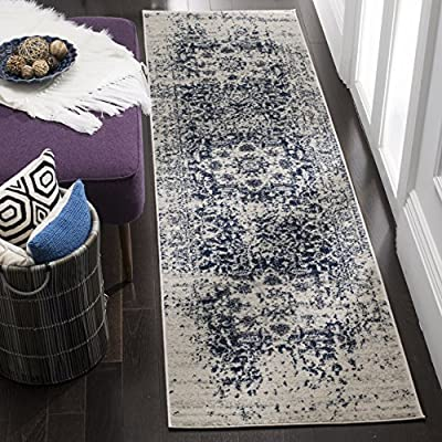 Safavieh Madison Collection MAD603D Cream and Navy Area Rug -  - runner-rugs, entryway-furniture-decor, entryway-laundry-room - 61OeZaHePAL. SS400  -