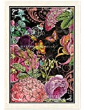 Michel Design Works Botanical Garden Cotton Kitchen Towel, Black/Pink