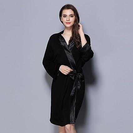 ALJL embutido Exquisito Lado camisón Albornoces de Gran tamaño Primavera y el Verano Pareja camisón cómodo