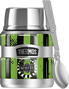 Beetlejuice Beetle Worm, THERMOS STAINLESS KING Stainless Steel Food Jar with Folding Spoon, Vacuum insulated & Double Wall, 16oz