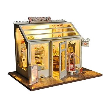 Toyvian Rompecabezas de Madera 3D Juguete Postre de Madera casa ...