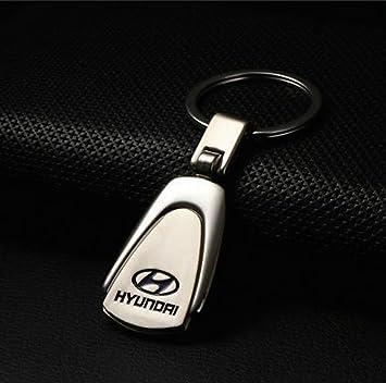 Hyundai metal del acero inoxidable llavero del coche con la ...